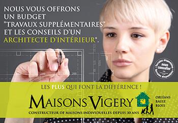 MAISONS VIGERY - affiche pub