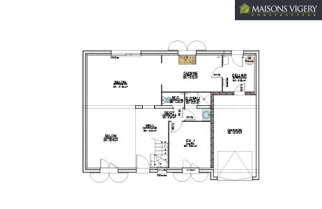 MAISONS VIGERY - vue plan modèle batissière